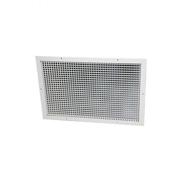A photo of the ceiling grille for a QuietAir Whole House Fan.